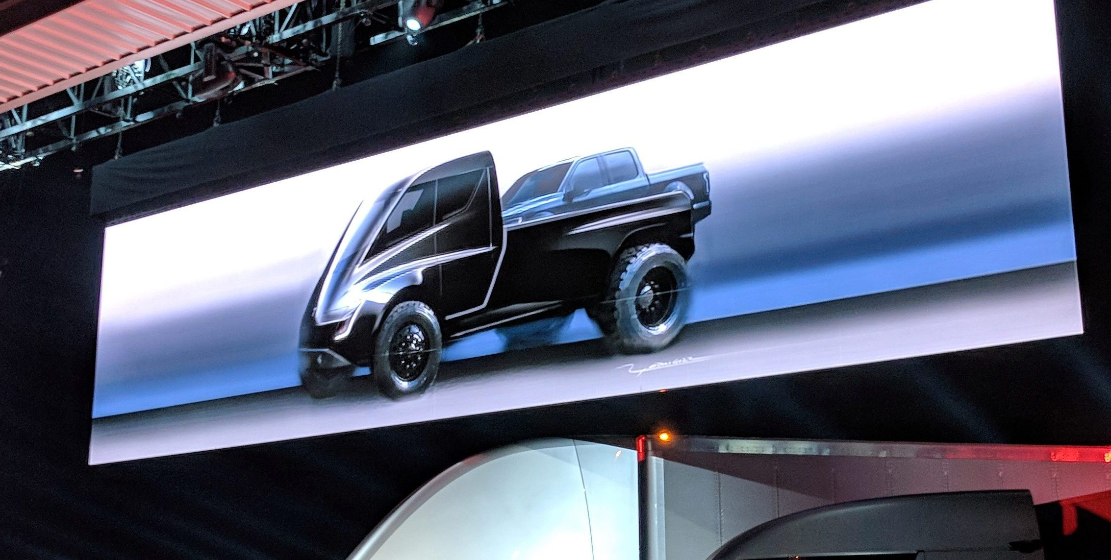 Futuristik Design Tesla Pickup Truck Is Coming Later This Year Sticking With