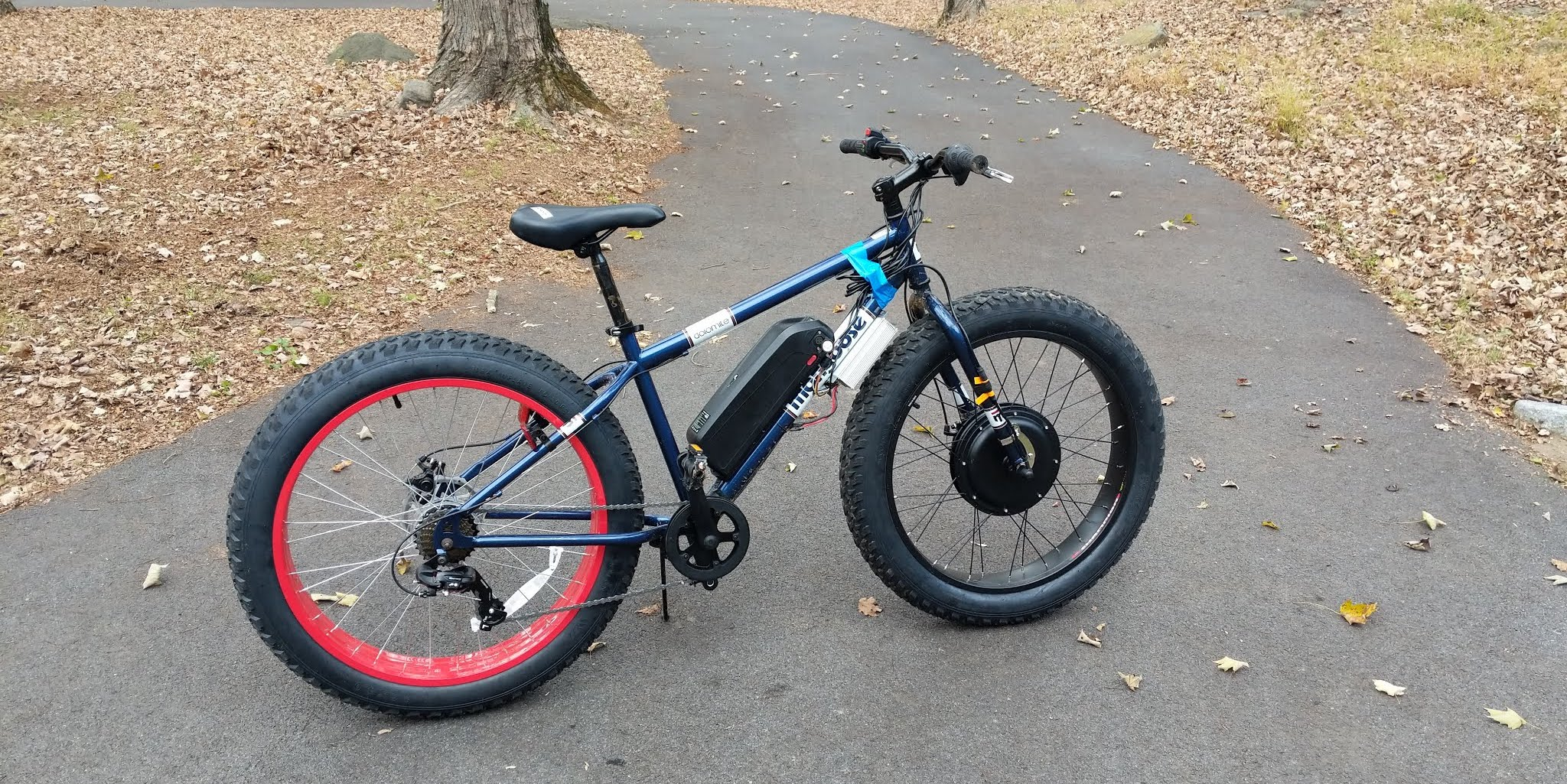Fat Bike Diy Ebike 1kw Fat Tire Awd Snow Bike For 700 4 Hours Of Work