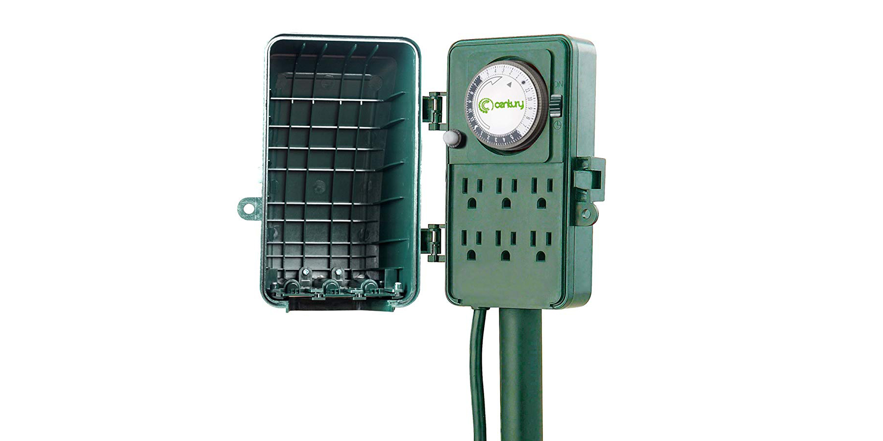 24 Outlet Green Deals 24 Hour Waterproof 6 Outlet Outdoor Timer 15 More