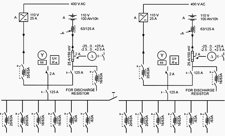 110 Volt Relay Wiring Diagram Substation Dc Auxiliary Supply Battery And Charger