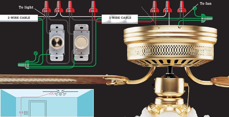 wire light switch to fan