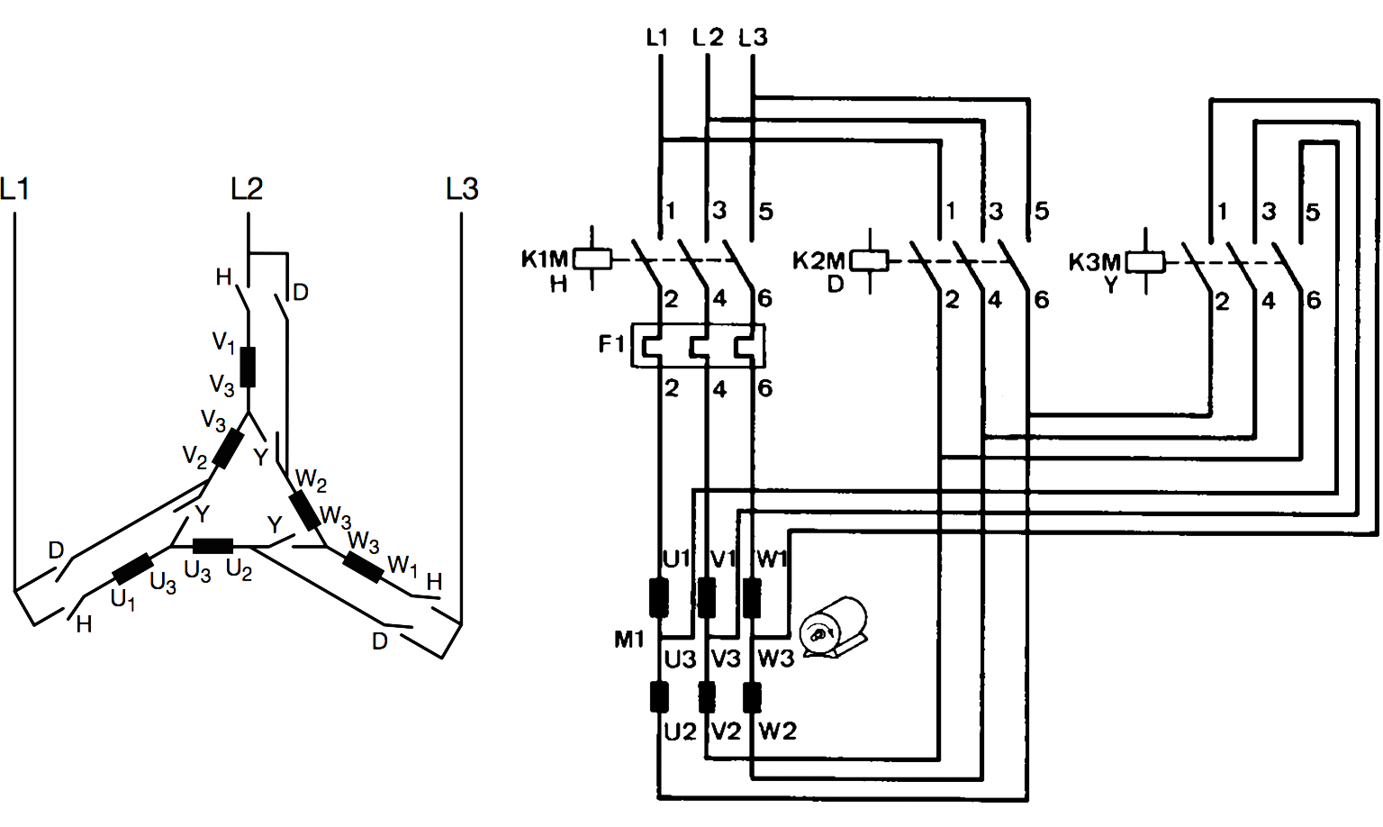 delta motor diagram