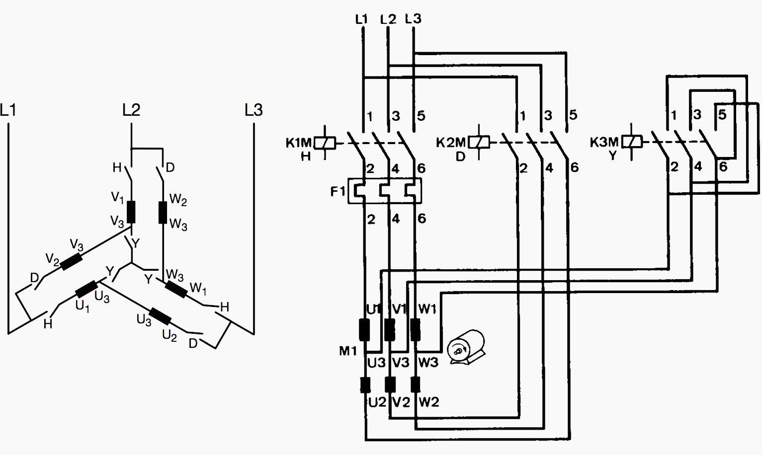 star delta starting circuit