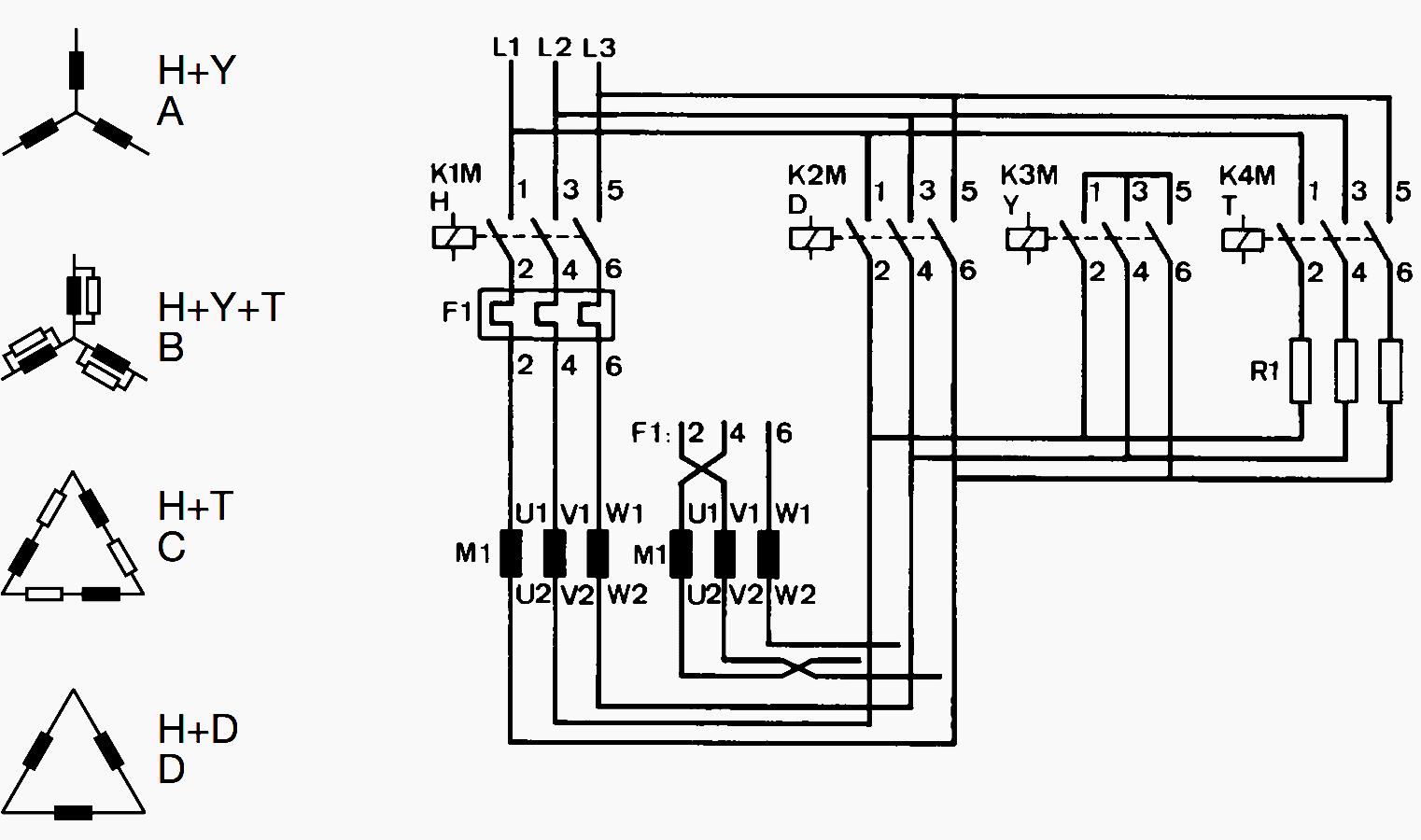 circuit diagram motor starting