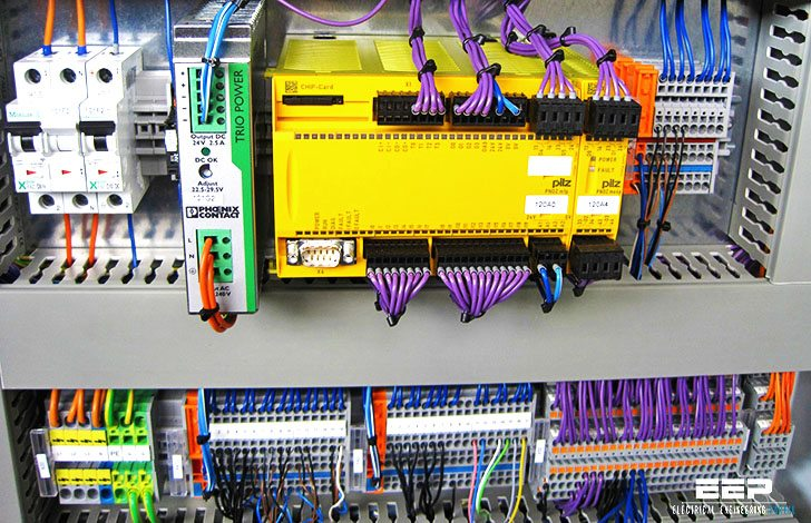 PLC power supply and safety (emergency) circuits requirements EEP