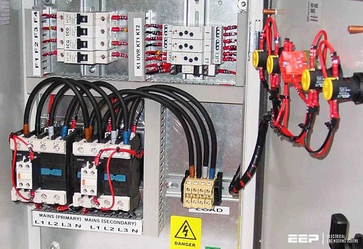 Should transfer switch be equipped with contactors or circuit breakers?