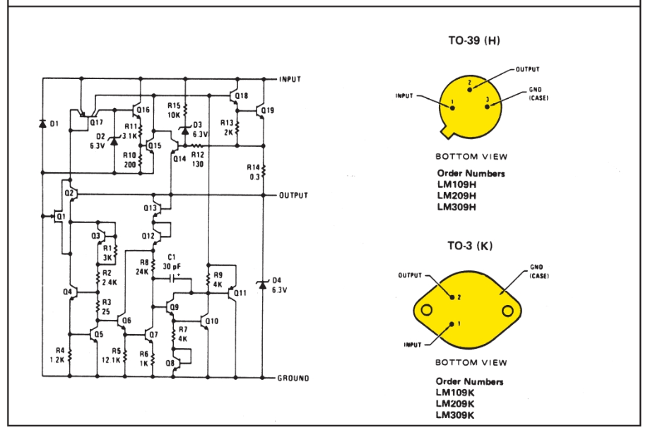 schematic diagram of power filter regulator circuit