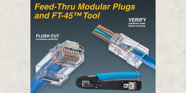 IDEAL ELECTRICAL LAUNCHES NEW FEED-THRU MODULAR PLUGS  AND FT-45™ CRIMP TOOL