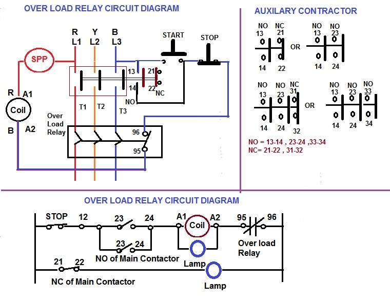 Single Pole Lighting Contactor Wiring Diagram Index listing of