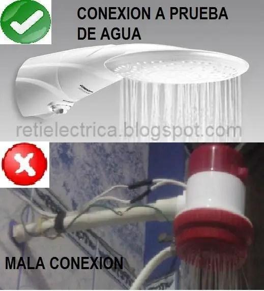 Como se debe conectar correctamente una ducha electrica for Como cambiar un empaque de regadera
