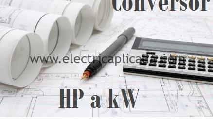Pasar de hp a kw