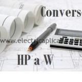 Pasar de HP a Vatios