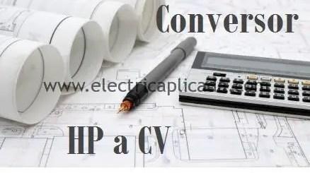 convertir de Hp a CV