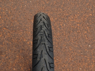 "The 24"" x 2.35"" wide Kenda tires are pretty wide and they provide a cushy ride."