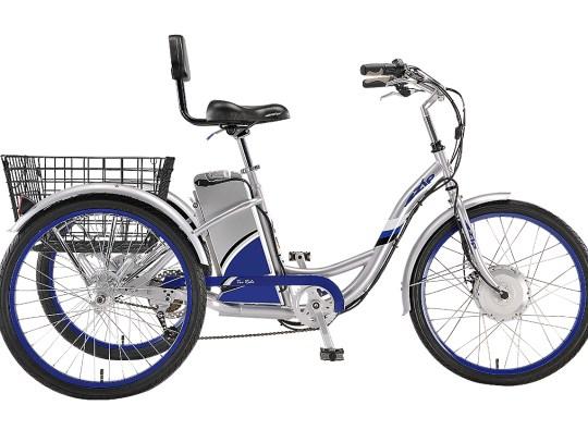 The eZip Tri-Ride electric trike.