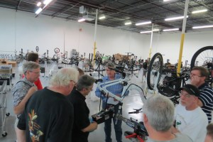 Ed Benjamin reviews the work members of the class who installed a Watts Up meter on a a ProdecoTech electric bike.