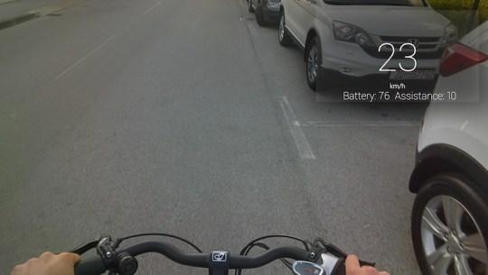 visiobike electric bike google glass speed