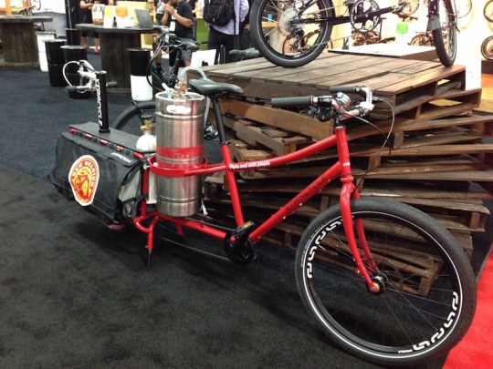 xtracycle edgerunner cargo bike beer