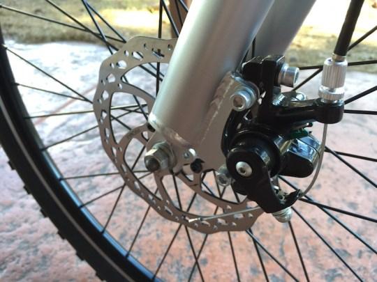 GenZe Sport electric bike front brake