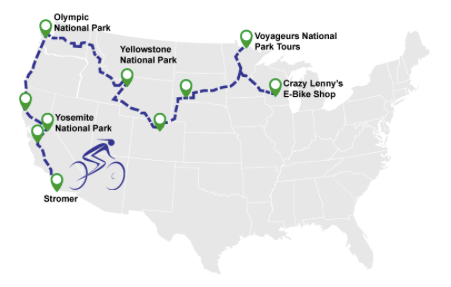 electric bike world record route