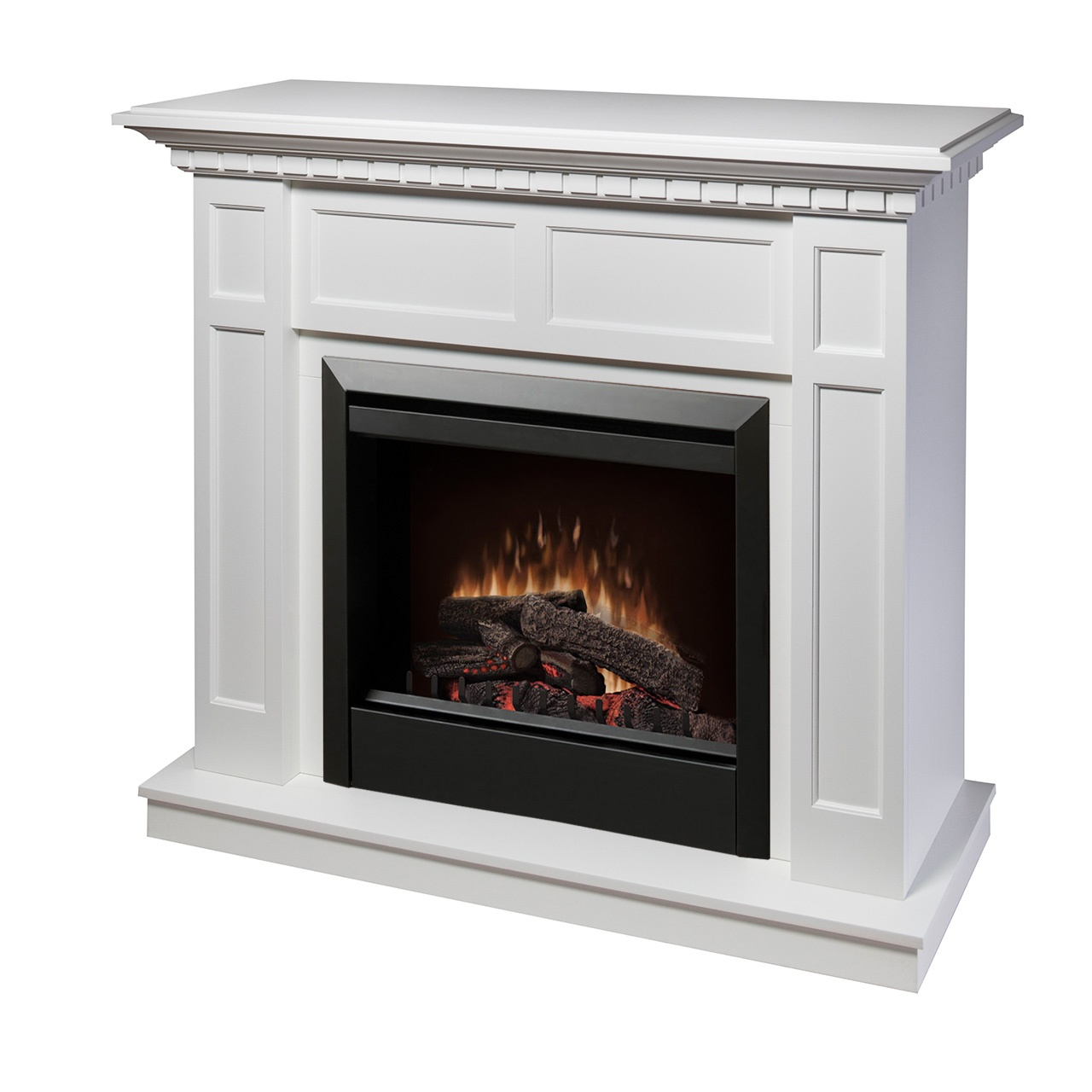 Plug In Electric Fireplaces Dimplex Caprice Dfp4743w Electric Fireplace Wall Mantel