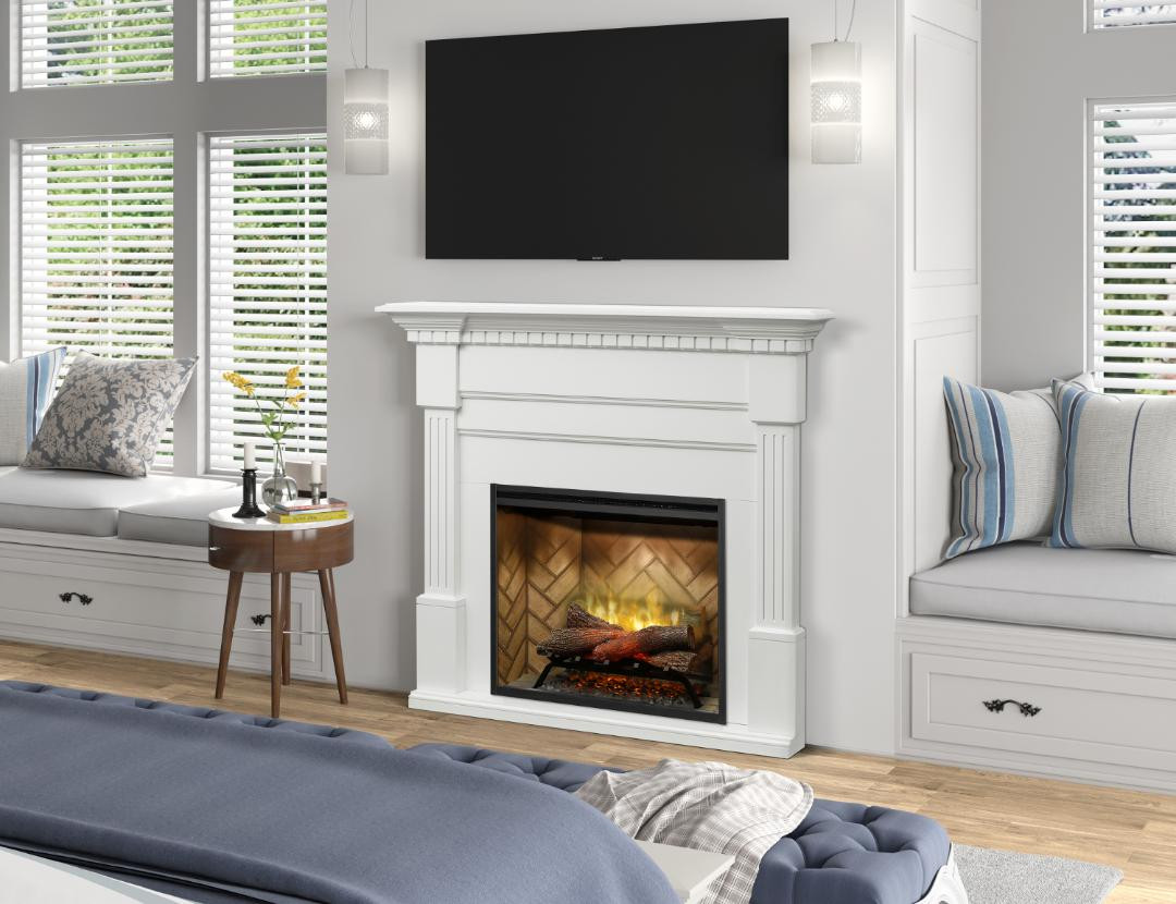 Wholesale Fireplace Inserts Dimplex Christina White Mantel With 30 Rbf30 Revillusion Electric Fireplace Insert