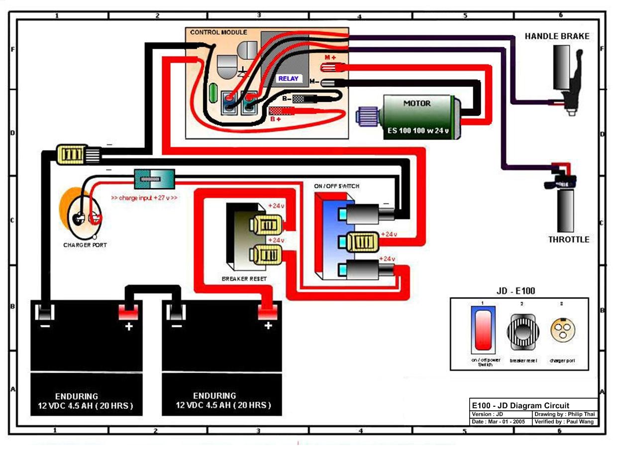 razor e100 battery wiring schematic