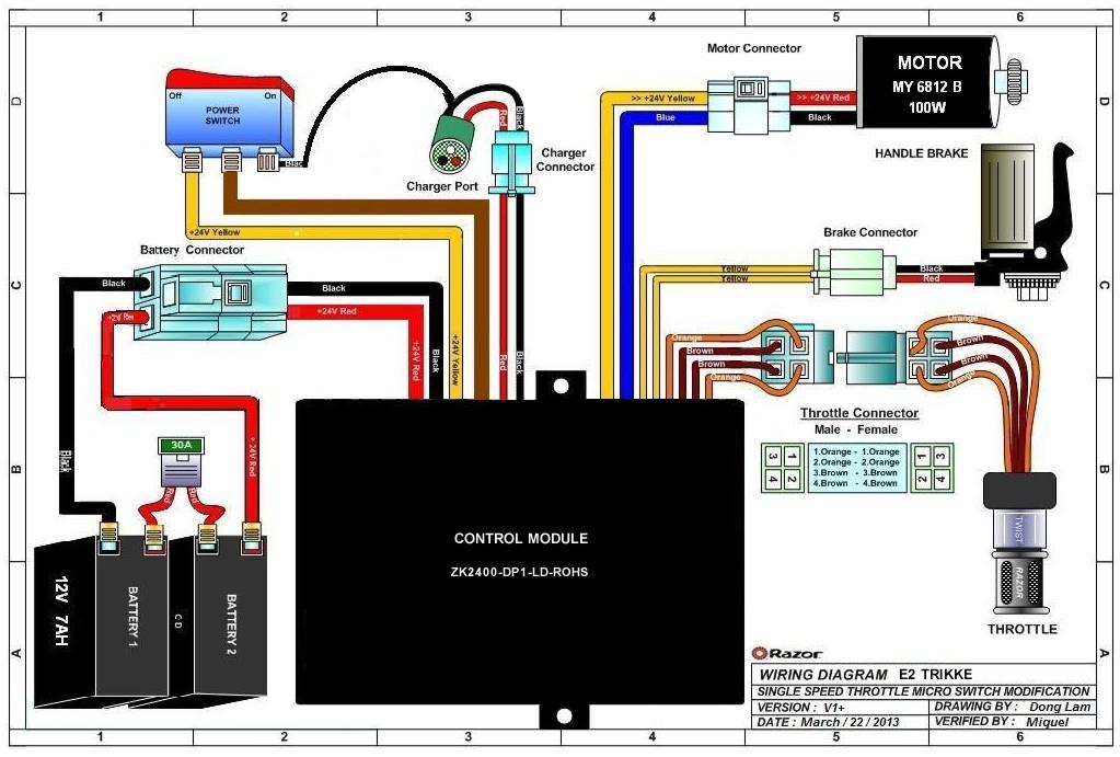 24v Scooter Wiring Diagram Wiring Schematic Diagram