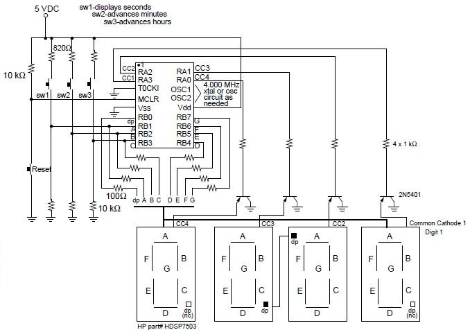 electronic hobby circuits digital clock circuit diagram