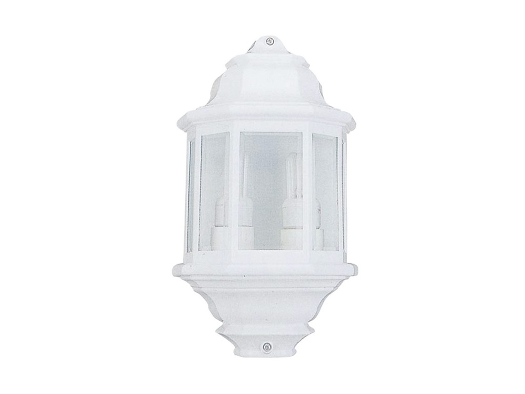 Portalamparas De Pared Electrobilsa Producto Farol Pared Doble Portalamparas Color Blanco