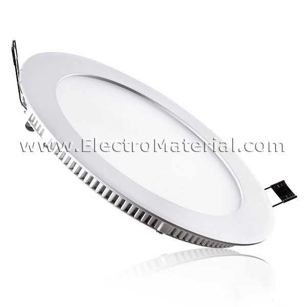 Lamparas Led Tubos Fluorescentes Downlight Led Extraplano Circular Blanco De 18w Luz Fría 6000k
