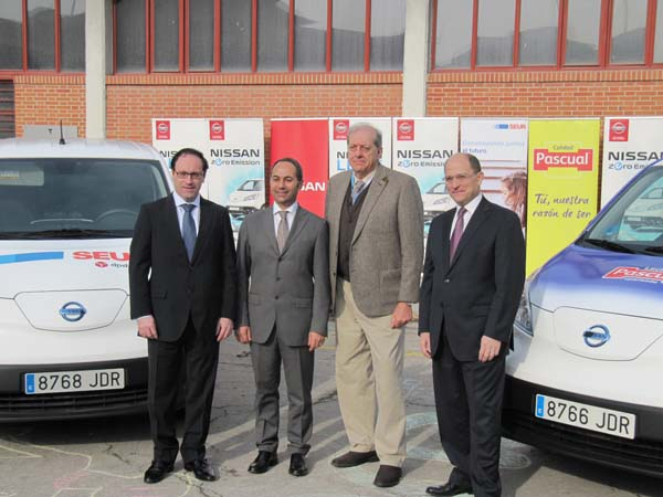 Nissan, Calidad Pascual y SEUR impulsan el reparto eléctrico de mercancías junto al Ayuntamiento de Madrid