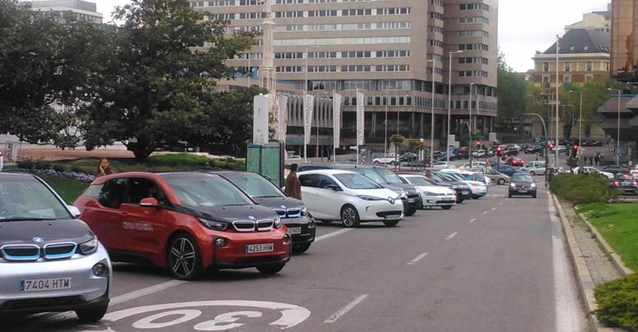 Feria del Vehículo Eléctrico VEM 2017 en la Plaza de Colon en Madrid