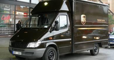 UPS amplia su flota de coches eléctricos. UPS P45E convertido en eléctrico. Furgon Mercedes diesel convertido a coche eléctrico