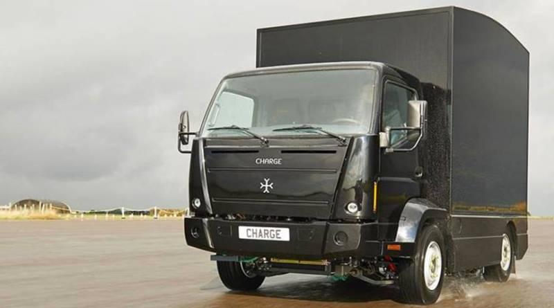 El fabricante de camiones eléctricos Charge patrocina la Formula E. Camion eléctrico Charge. transporte de mercancias con camiones eléctricos. Fabricante de camiones eléctricos britanico