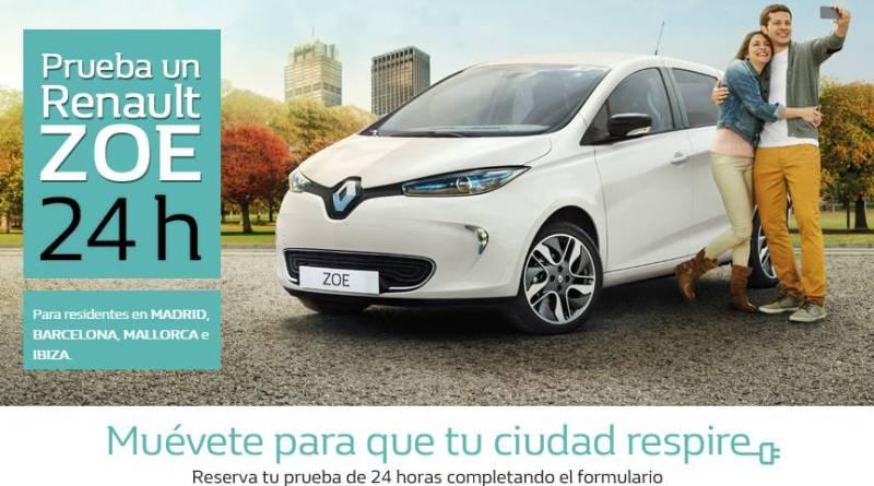 Prueba gratis un Renault ZOE durante 24 horas