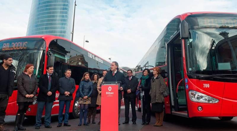 Bilbobus incorpora a su flota dos Irizar i2e, autobús eléctrico fabricado en España