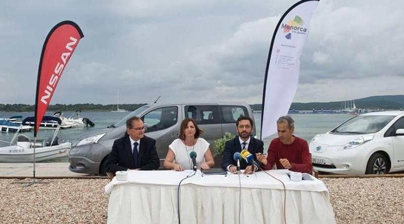 Nissan pretende firmar acuerdos de movilidad cero emisiones en las islas. Programa piloto Menorca Smart Island de Nissan. El Consell Insular de Menorca promoverá la movilidad eléctrica