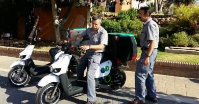 La Universidad de Málaga ha incorporado a su flota tres scooters eléctricos