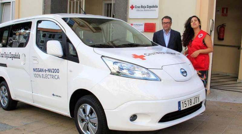 Nissan ha cedido una furgoneta 100% eléctrica cero emisiones a la Cruz Roja