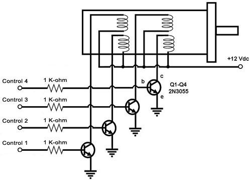 four phase wiring furthermore stepper motor controller circuit