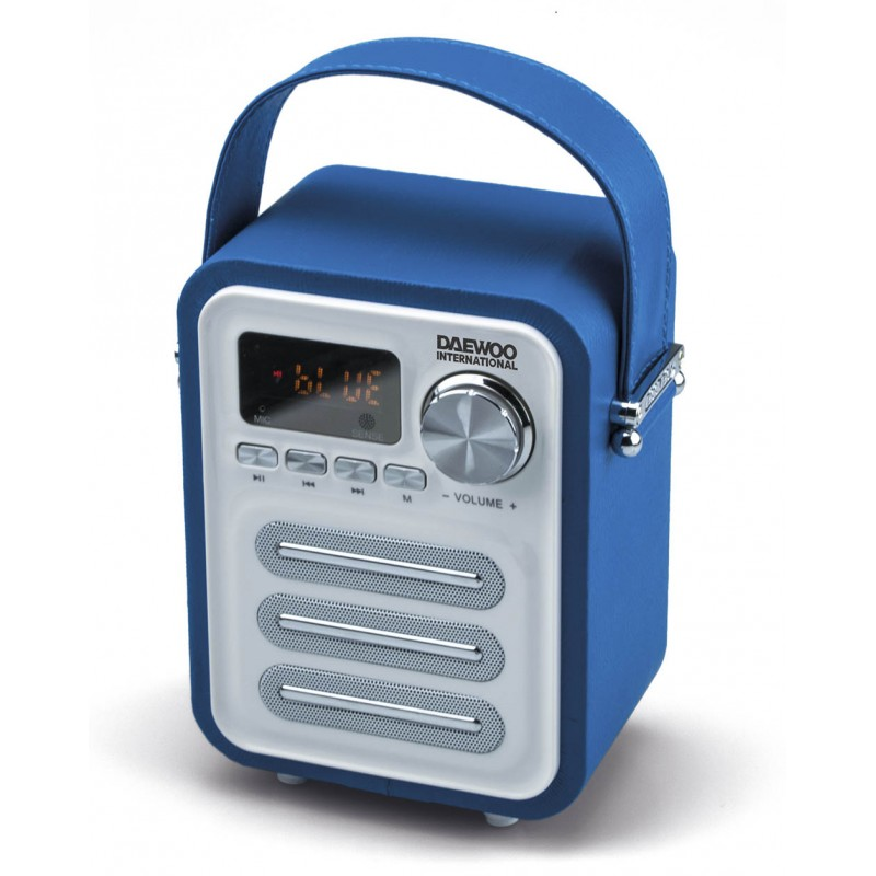 Outlet Moviles Libres Altavoz Bt Retro Con Radio Blue Daewoo - Electronica Bf, Sl