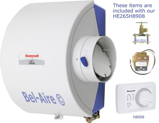 HE265H8908 Honeywell ByPass Flow-Thru Humidifier