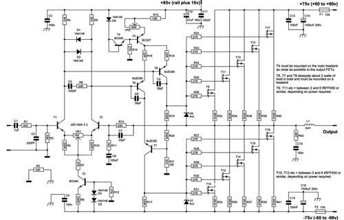 300w high power amplifier diy circuit