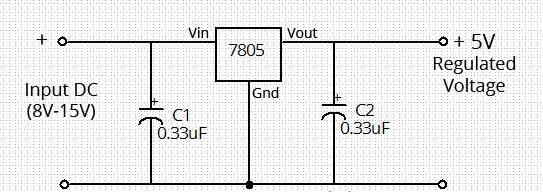 voltage constant linear here this is a 5 volt regulator circuit