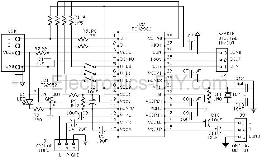 usb signal booster circuit diagram