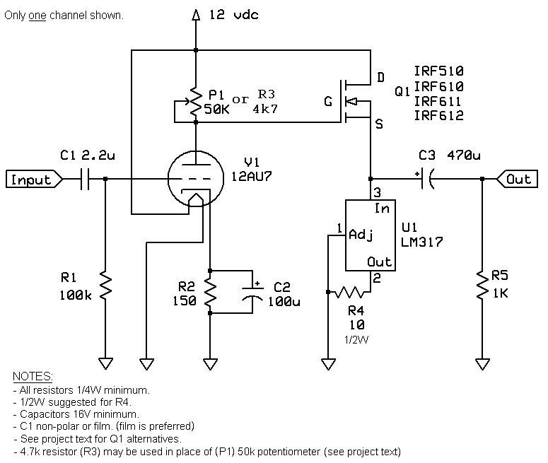 Class-A 12AU7 Tube Headphone Amplifier