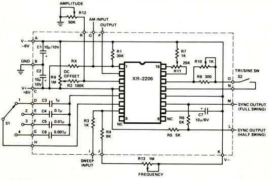 function generator schematic xr2206