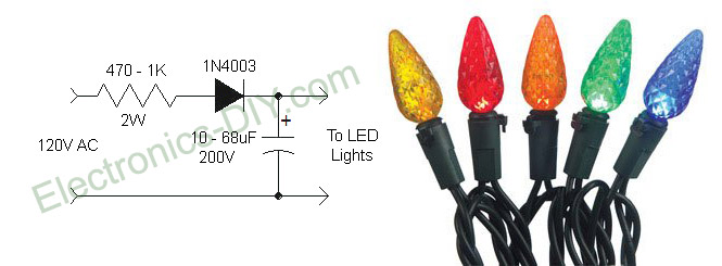 Led Christmas Lights Circuit Diagram And Working Control Cables