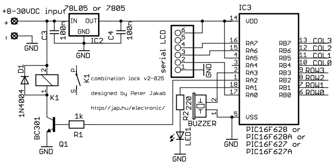 electronic lock relay